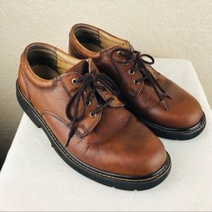 Dockers men's brown leather oxfords size 8 1/2M